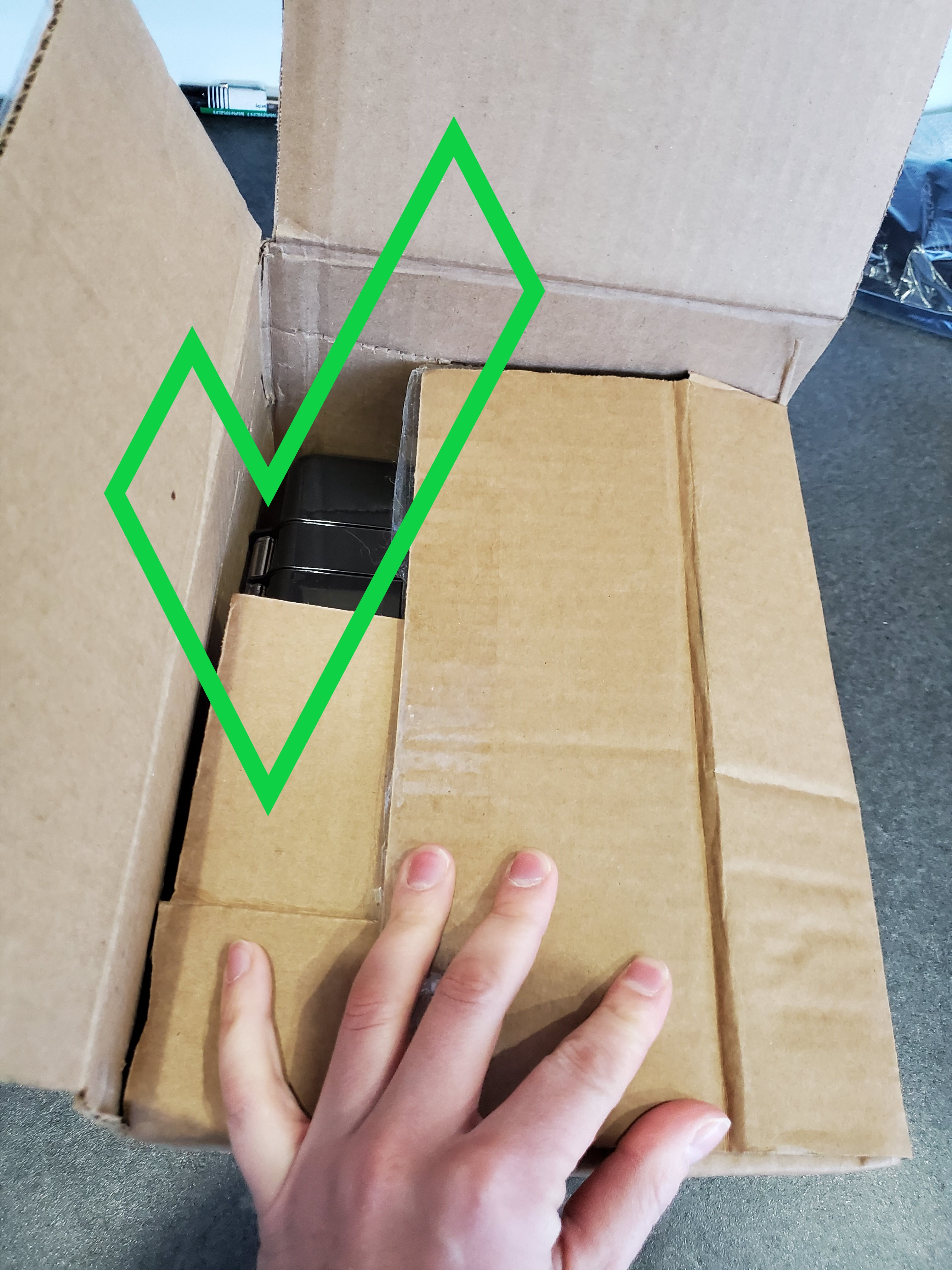 shipping box cut down to size